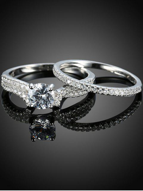 shops S925 Diamond Round Ring Set -   Mobile