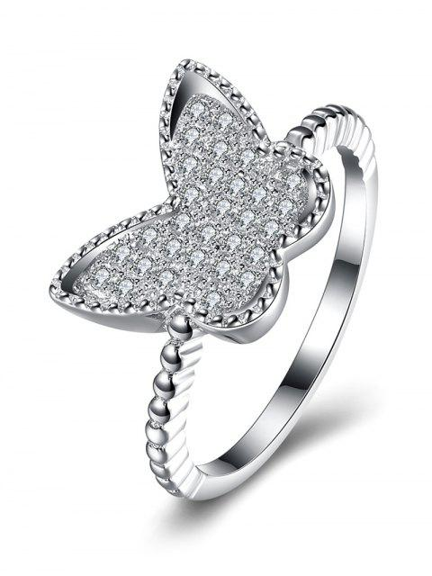 chic Butterfly S925 Diamond Ring - SILVER 8 Mobile