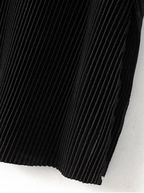 hot Pleated Slip Dress - BLACK S Mobile