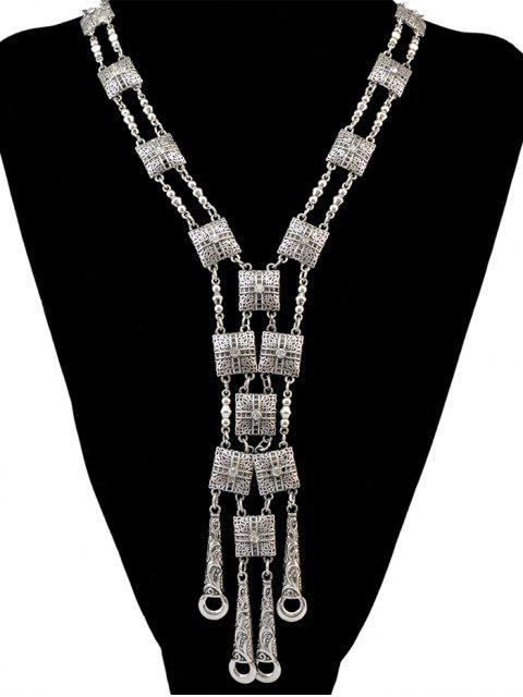 women Rhinestone Geometric Necklace -   Mobile