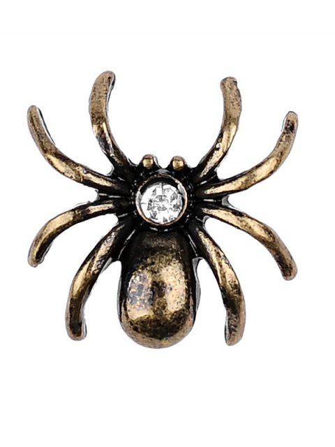 unique Spider Key Crown Clock Elf Brooch Set - SILVER  Mobile