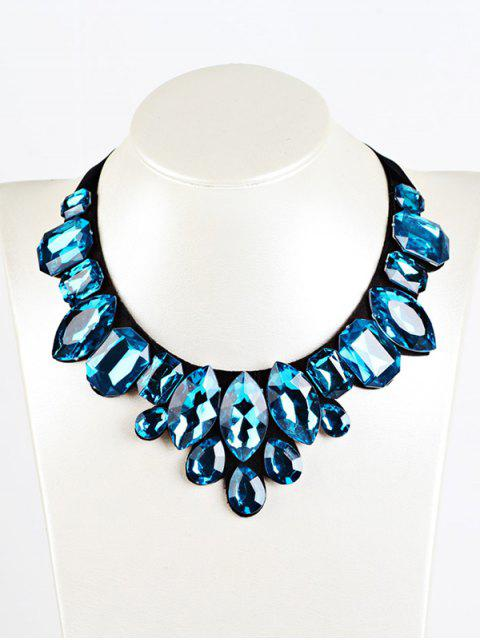shops Geometry Faux Crystal Necklace -   Mobile