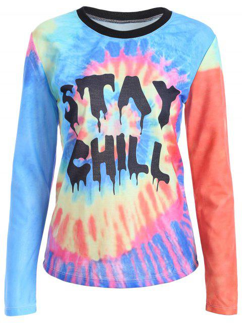 women Tie-Dyed Funny T-Shirt - MULTICOLOR M Mobile