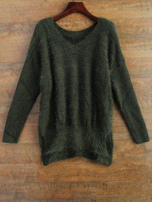 Fluffy Basic Sweater - Green S