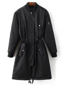 Skirted Utility Coat - Black M