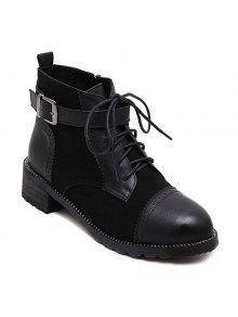 خمر الدانتيل يصل الأحذية - أسود 39