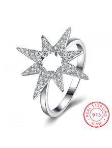 Fleur Étoile De À Diamants Bague Motif Yfg6yb7