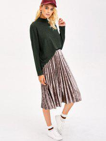 Mock Neck Dolman Sleeve Boyfriend Sweater ARMY GREEN: Sweaters ONE ...