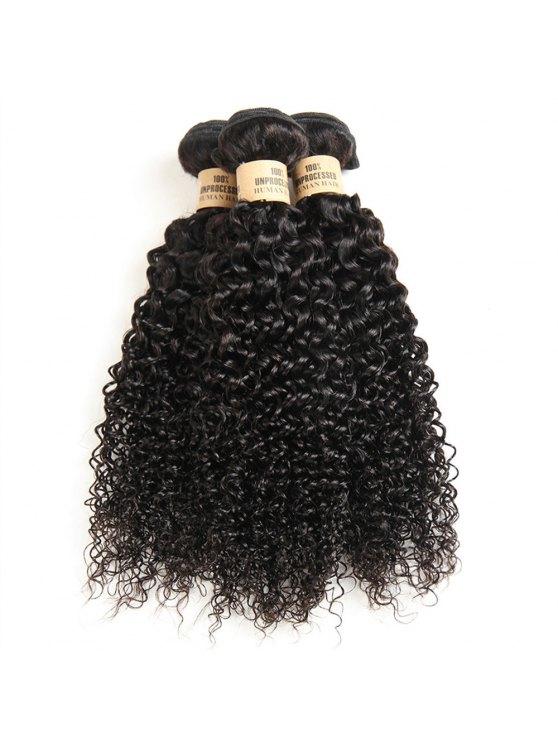 1 قطعة / الوحدة 5a ريمي غريب مجعد الشعر البرازيلي نسج - أسود 10 بوصة