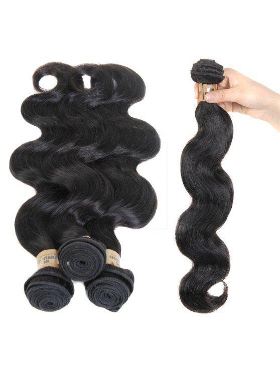 1 قطعة / الوحدة الجسم موجة 5a ريمي البرازيلي نسج الشعر - أسود 26inch