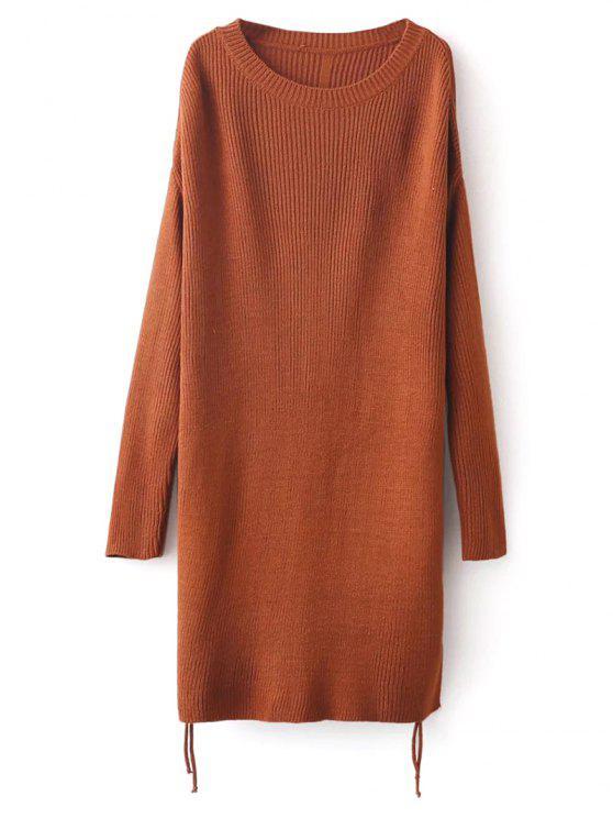 Espinhel Side Slit Sweater - Castanha Tamanho único