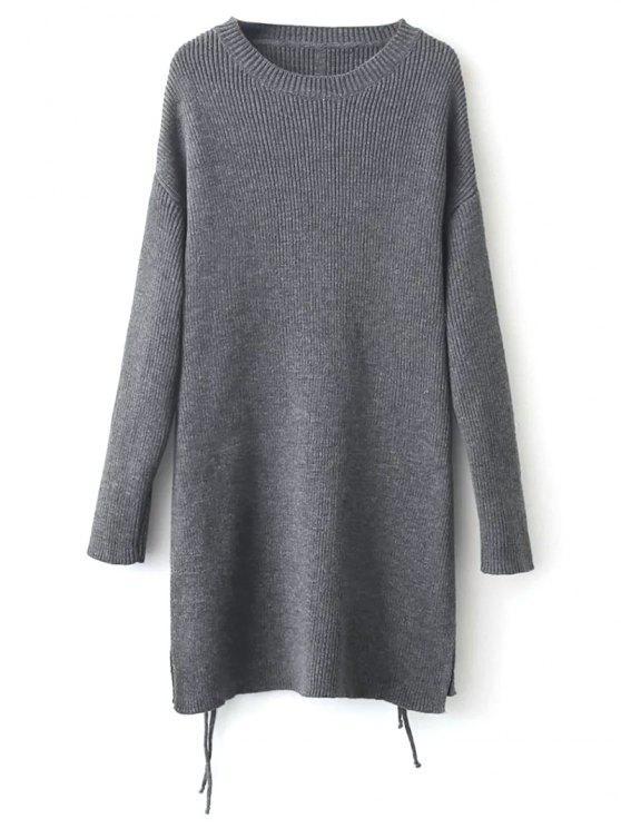 Espinhel Side Slit Sweater - Cinza Tamanho único