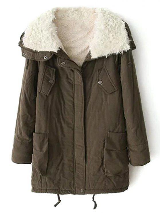 Agnello lana Campo Coat - verde  L