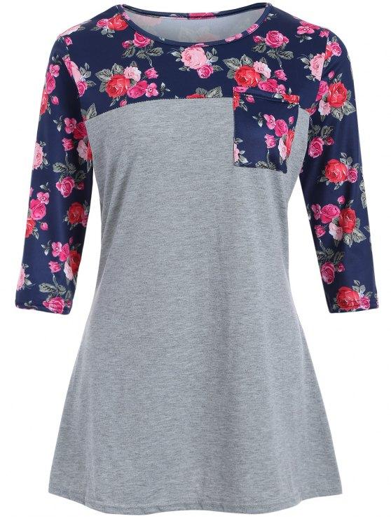 Loose Camiseta de Rose - Gris XL