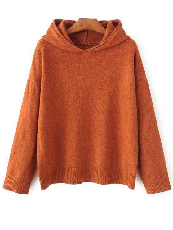 buy Long Sleeve Hoodie Sweater - ORANGE ONE SIZE