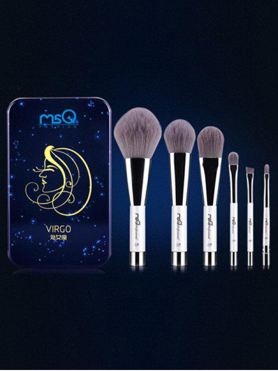 outfits Virgo 6 Pcs Magnetic Makeup Brushes Kit - BLUE