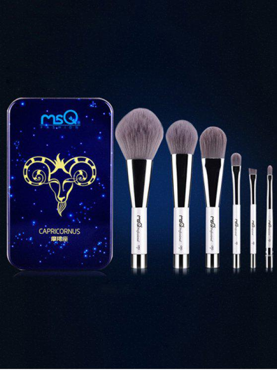 latest Capricornus 6 Pcs Magnetic Makeup Brushes Kit - BLUE
