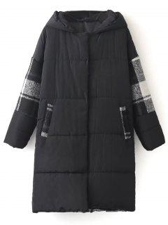 Hooded Padded Winter Coat - Black