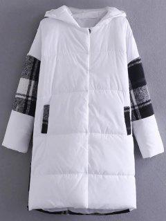 Hooded Padded Winter Coat - White