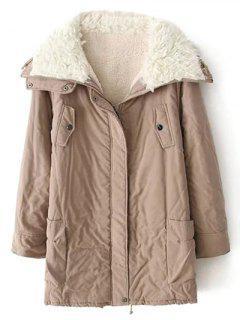 Mantel Aus Schafwolle Mit Reißverschluss - Khaki S