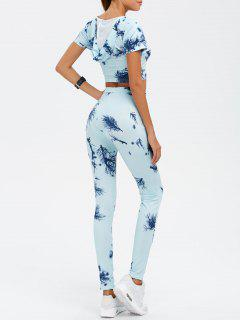 Crop Top And Print Pants Twinset - Cloudy Xl