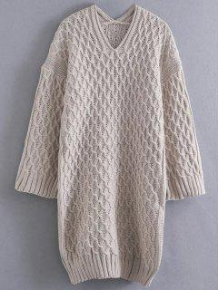 Kimono Sleeve Sweater Dress - Complexion