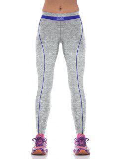Yoga Color Block Sport Pants - Bleu M