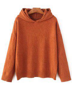Long Sleeve Hoodie Sweater - Orange