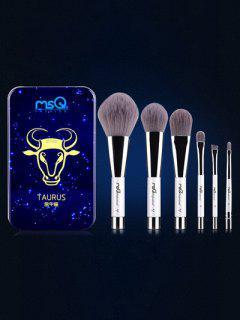 Conjunto & Pinceles Tauro Maquillaje Magnético Caja Hierro - Azul
