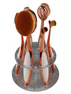 Makeup Toothbrush Brush Stand - Silver