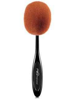 Fiber Toothbrush Shape Powder Brush - Black