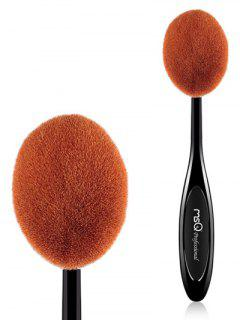 Oval Toothbrush Shape Blush Brush - Black