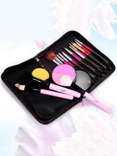 Faux Maquillage De Sac En Cuir Sac De Rangement Cosmétique - Noir