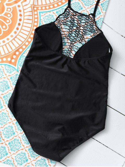 sale Cut Out One-Piece Swimwear - BLACK L Mobile