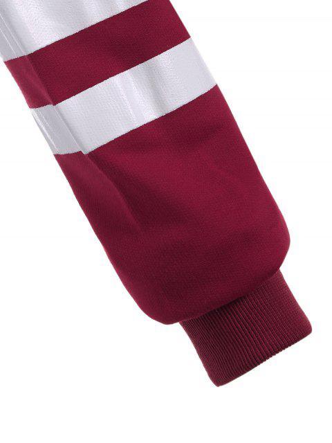 Sweat à capuche court motif lettres - Gris et Rouge S Mobile