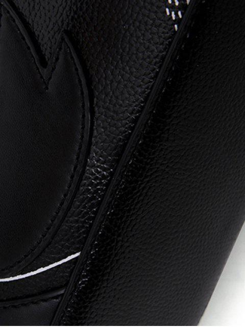 new Textured Leather Stitching Wing Pattern Crossbody Bag -   Mobile