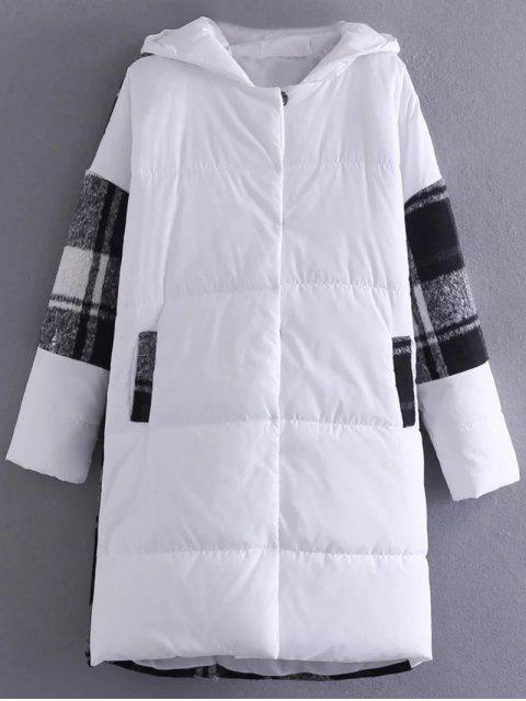buy Hooded Padded Winter Coat - WHITE ONE SIZE Mobile