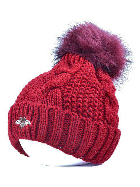 outfit Pom Ball Flanging Bee Knitted Beanie -   Mobile