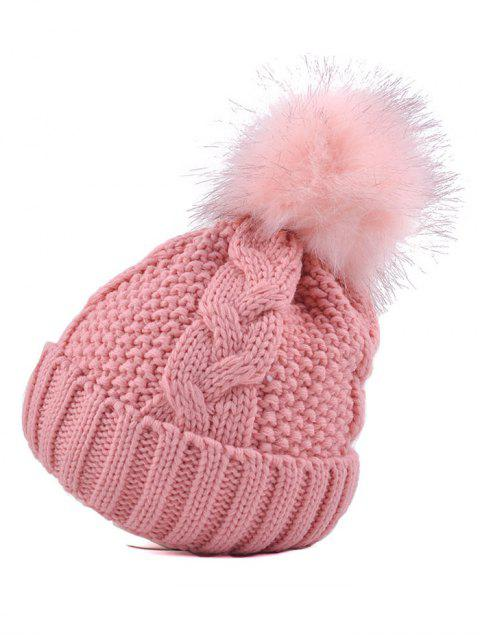 latest Pom Ball Flanging Bee Knitted Beanie -   Mobile