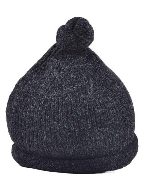 unique Hello Embellished Chunky Knitted Hat -   Mobile