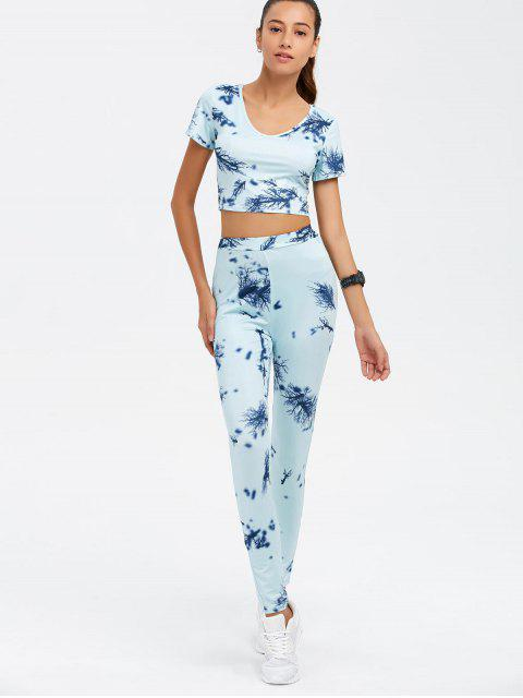 women Crop Top and Print Pants Twinset - CLOUDY XL Mobile