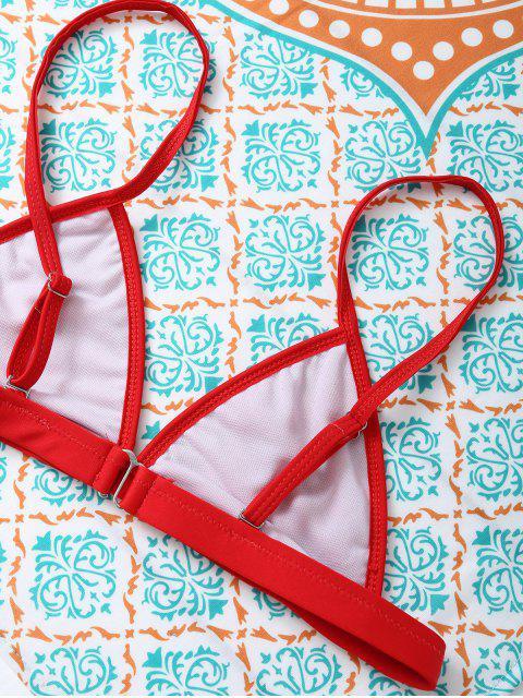 fashion Unlined Cami Bikini - RED M Mobile