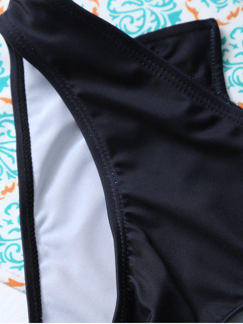 shop Halter Cutout Cartoon Cat Bikini Set - PURPLISH BLUE L Mobile