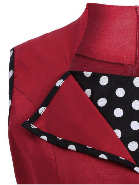sale Vintage Sleeveless Polka Dot Dress - RED 4XL Mobile
