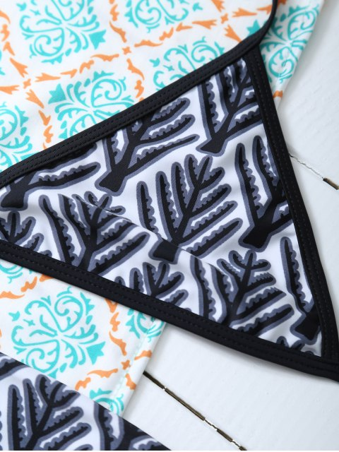 shop Tree Branch Halter Bikini - BLACK M Mobile
