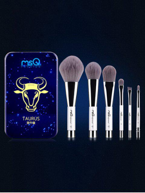 Conjunto & Pinceles Tauro Maquillaje Magnético Caja Hierro - Azul  Mobile