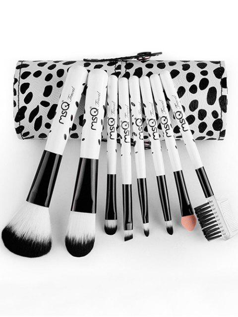best 8 Pcs Daily Cow Print Makeup Brushes Kit -   Mobile
