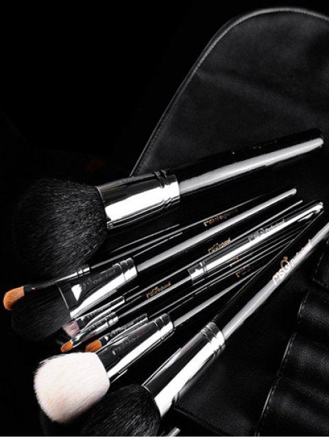 hot 8 Pcs Animal Hair Makeup Brushes Kit - BLACK  Mobile