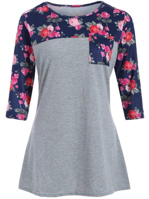 Loose Camiseta De Rose - Gris Xl