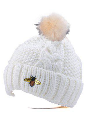 Cheap Casual Pom Ball Flanging Bee Knitted Beanie Export